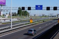 Junção de Kethelplein perto de Rotterdam nos Países Baixos Fotos de Stock Royalty Free