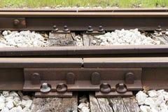 Junção oxidada do trilho Imagens de Stock