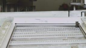 Junções de canto de descascamento de perfis do PVC Produção automática filme