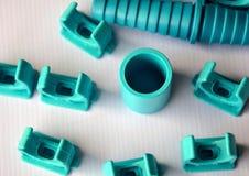 Junções de tubulação do PVC fotografia de stock