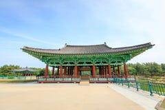 Jun 22, 2017 Donggung pałac i Wolji staw w Gyeongju, południe K Zdjęcia Stock