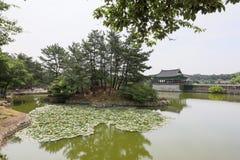 Jun 22, 2017 Donggung pałac i Wolji staw w Gyeongju, południe K Zdjęcia Royalty Free