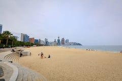 Jun 21, 2017 Haeundae plaża w Busan, Południowy Korea - sławna plaża Obraz Stock
