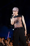Jun Ho (Band 2PM) am Festival menschliche Kultur EquilibriumConcert Korea in Vietnam stockbild