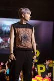 Jun Ho (musikband 2PM) på den EquilibriumConcert Korea för mänsklig kultur festivalen i Vietnam Royaltyfri Fotografi