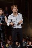 Jun.K (musikband 2PM) på den EquilibriumConcert Korea för mänsklig kultur festivalen i Vietnam Royaltyfri Bild