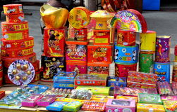 Jun Le,China: Chinese New Year Fireworks Stock Images
