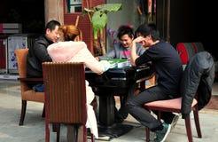 Jun Le, China: People Playing Mahjong royalty free stock photos