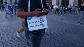 Fun with Looking for ticket sign Royalty Free Stock Photography