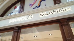 Manolo Blahnik Store Sign royalty free stock images