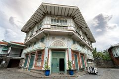 Jun 30,2018 : Old Spanish style house at Las casas filipinas,Bataan, Philippines. Bataan, Philippines - Jun 30,2018 : Old Spanish style house at Las casas Stock Photo