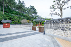 Jun 21, 2017 Pavilion at the garden of Nurimaru APEC House. The Royalty Free Stock Photography