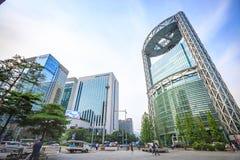 Jun 19, 2017 Samsung Ro wierza w Jonno blisko Jonggak staci Obrazy Stock