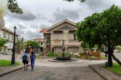 Jun 30,2018 : Tourist walking street at Las casas filipinas,Bataan, Philippines. Bataan, Philippines - Jun 30,2018 : Tourist walking street at Las casas Stock Images