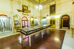 在比卡内尔武装在Junagarh堡垒里面的博物馆 图库摄影