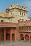 Junagarh Fort. A courtyard view of the Junagarh Fort Royalty Free Stock Photo