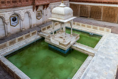 Junagarh Fort. A green pool within the Junagarh Fort Stock Images