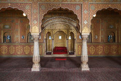 Junagarh fort interior, Bikaner, India Royalty Free Stock Photo