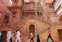 Junagarh fort under reparation Royaltyfria Bilder