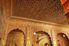 Junagarh fort Wall paintings Royalty Free Stock Images