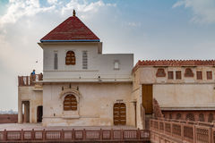 Junagarh Fort. A white building with red roof, part of the Junagarh Fort compount Royalty Free Stock Photos