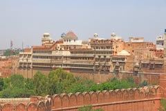 Junagarh röd fortbikaner rajasthan Indien Arkivfoto