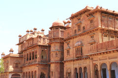 Junagarh red fort bikaner rajasthan india. One of the best forts in india,still standing regally,fort contains cannons,museums,lakes,palaces carvings,statues and Royalty Free Stock Photography