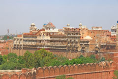 Junagarh red Fort Bikaner rajasthan india. One of the few major forts in Rajasthan which is not built on a mountain or hilltop.completed by Karan Chand the Prime Stock Photo