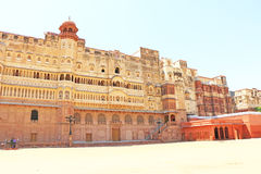 Junagarh red Fort Bikaner rajasthan india. One of the few major forts in Rajasthan which is not built on a mountain or hilltop.completed by Karan Chand the Prime Stock Photos
