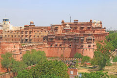 Junagarh red Fort Bikaner rajasthan india. One of the few major forts in Rajasthan which is not built on a mountain or hilltop.completed by Karan Chand the Prime Royalty Free Stock Photography