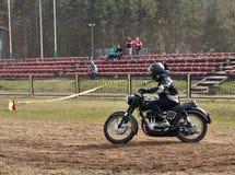 Junak motorcycle speed test Royalty Free Stock Images