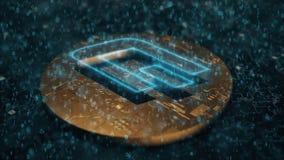Junakowania cyfrowy cryptocurrency ilustracja wektor