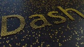 Junakowania słowo robić ruszać się złote liczby Cryptocurrency transakcje lub kopalnictwo odnosić sie konceptualnego 3D rendering Obraz Royalty Free