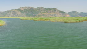 juncos do rio da excursão do barco, dalyan histórico, ortaca, koycegiz, peru vídeos de arquivo