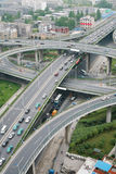 Junction. A road junction at Hangzhou Stock Photos