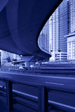 Junction. Of highway and motorway in Moscow city, Russia Stock Images