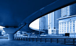 Junction. Of highway and motorway in Moscow city, Russia Royalty Free Stock Photos