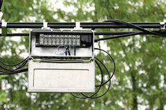 Junction box. Outdoor junction box of telephone cable Royalty Free Stock Photo