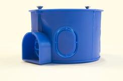 Junction box. Plastic junction box, closeup, isolate Stock Photos