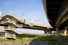 Junction of highways in Saint-Petersburg Royalty Free Stock Image