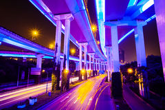 Junction with light in HongKong Stock Images