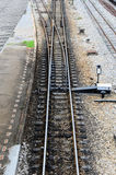 Junction of railway. Stock Photo