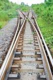Junction railway Stock Photo