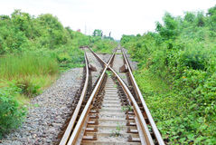 Junction railway Royalty Free Stock Photography
