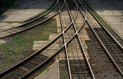 Junction of railways Stock Photo