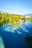 Junction of the Rhone and Arve Stock Photos