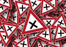 Junction, Road Sign, Traffic Sign Royalty Free Stock Photo