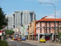 The junction in Singapore's Chinatown, Singapore. Stock Photo