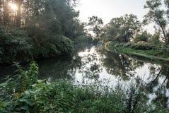 Junction of Stonavka and Olse river in Karvina Stock Photo