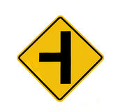 Junction traffic sign royalty free stock photography
